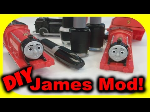 Thomas and Friends - How to - James in black paint! Follow along Modification! Tutorial Part 1.