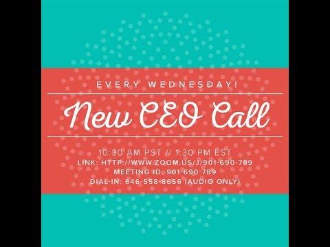 New CEO Call - Sept 6th - Starter Kit
