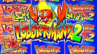 ★ Max Bet Slot Play on Lobstermania 2 ★ BIG WIN + Progressives and Bonus!   Slot Traveler