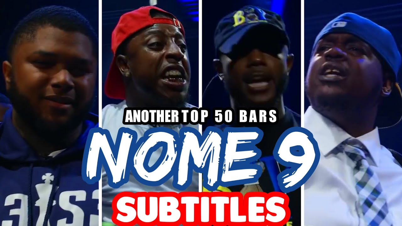 Another Top 50 Bars from NOME 9 SUBTITLES | SMACK URL | Masked Inasense
