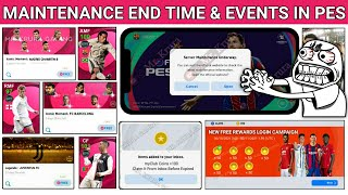 Maintenance End Time & Events In Pes 2021 Mobile || Today Maintenance End Time || Server Maintenance screenshot 5