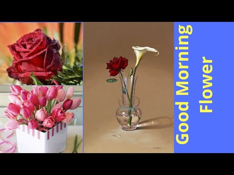 Good Morning And Love Flower Arrangement And Decorations With Quotes Youtube