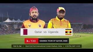 🔴Qatar vs uganda Live CRICKET MATCH TODAY 🔴 T20