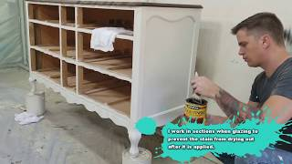 Vintage Dresser Makeover Painting Furniture and Antique Glazing