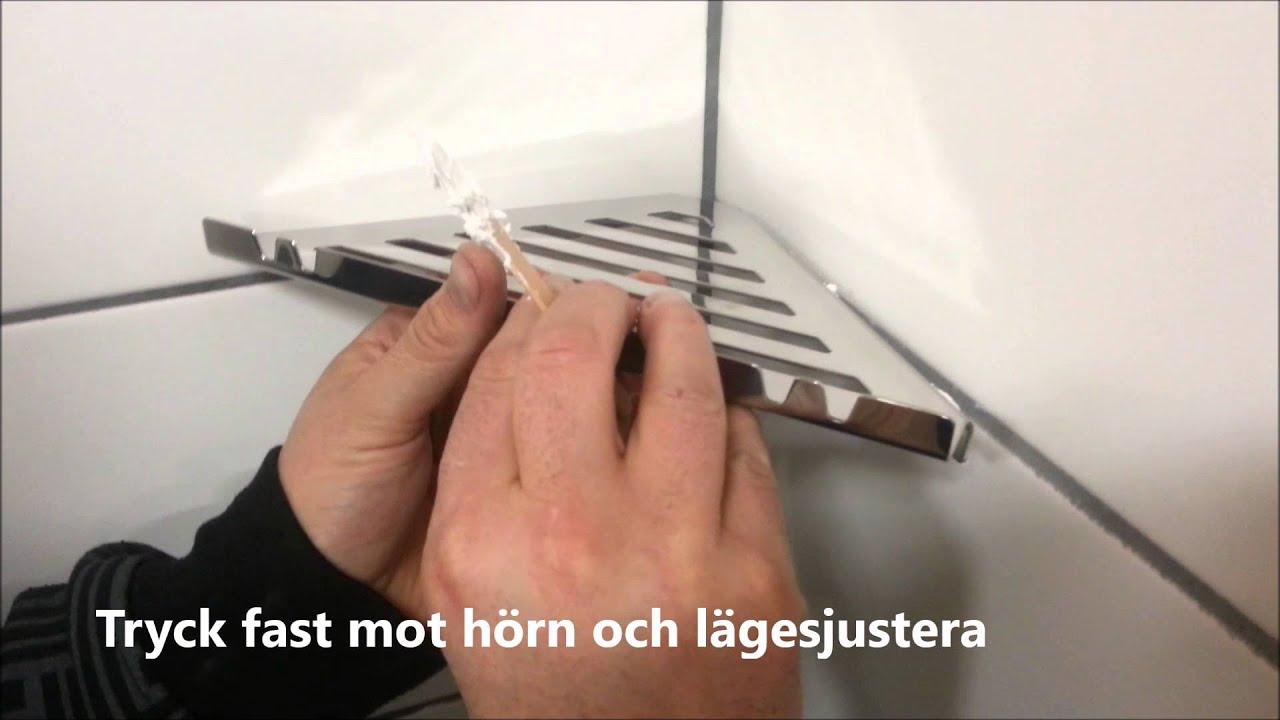 Underbar Badrumshylla Hörn Glabete Design4Bath på Smarthem.se - YouTube QG-38