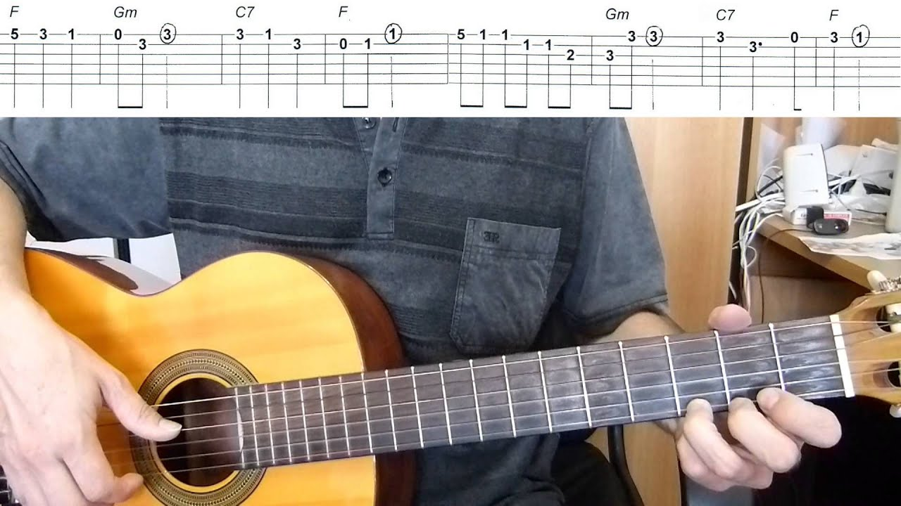 santa lucia easy guitar melody tutorial tab guitar lesson youtube. Black Bedroom Furniture Sets. Home Design Ideas
