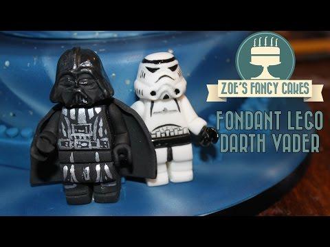 Fondant lego Darth Vader birthday cake topper How To Cake Tutorial thumbnail