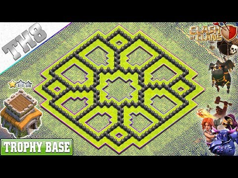 BEST Town Hall 8 (TH8) TROPHY Base 2019 With REPLAY!! TH8 Base With COPY LINK - Clash Of Clans