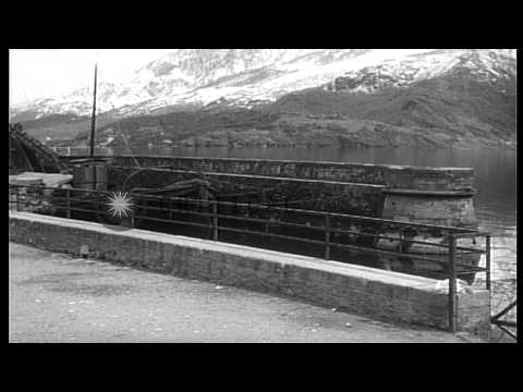 The venue in village Dongo where Benito Mussolini, mistress Carla Petacci and oth...HD Stock Footage