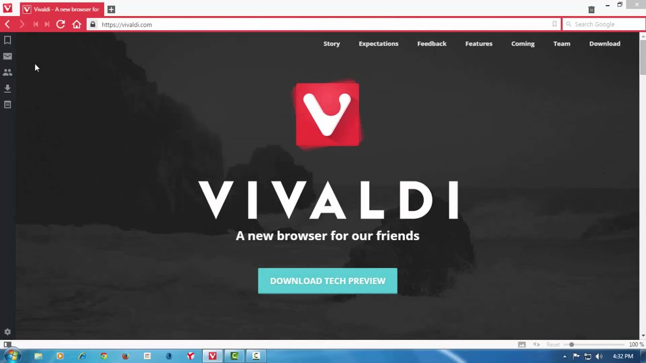 Vivaldi browser youtube for Web and windows
