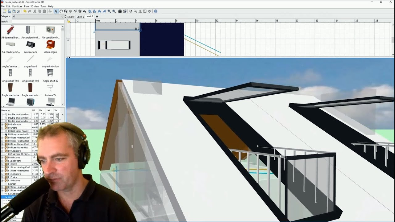 Roof Attic Balcony Window In Sweet Home 3D