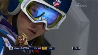 Shiffrin Skis Out in Are GS Run 2 - USSA Network