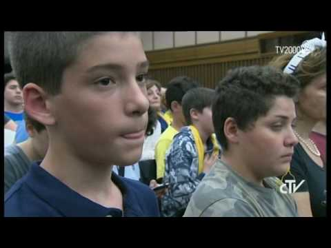 "Papa Francesco incontra i giovani dell'esperienza educativa cristiana ""Graal"" e ""I Cavalieri"""