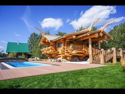 """дом """"Викинг"""" из красного канадского кедра"""