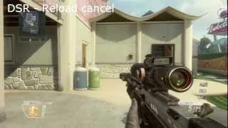 COD Black Ops 2 - Shoot faster with snipers (reload cancel)