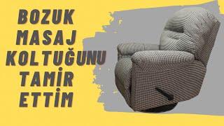 BOZUK MASAJ KOLTUĞUNU TAMİR ETTİM (massage chair fabric change)