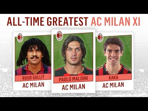 All-Time Greatest AC Milan XI | Maldini, Kaká, Gullit!