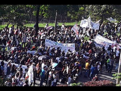 Con total normalidad avanzan las marchas por el paro nacional en Medellín