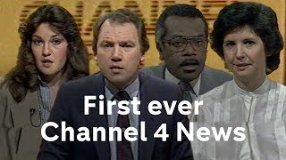 Channel 4 News' first ever transmission from 1982