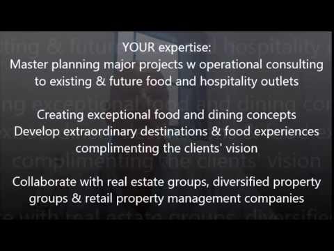 Food Services Consultant - International Concept & Creative Designer Company