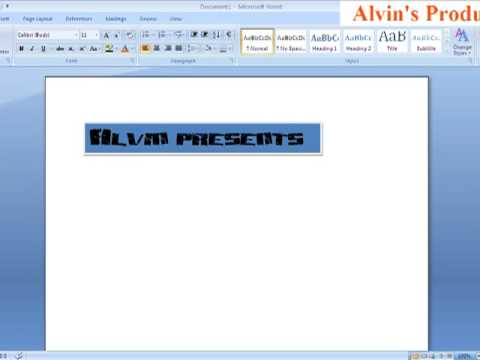 How To Easily Create a Banner using Microsoft Word 2007 - YouTube