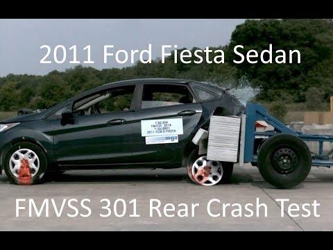- Ford Fiesta Sedan FMVSS  Rear Crash Test ( Mph)