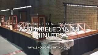 LED Trade Show Booth Display Trade Show Lighting For Jewelry Installation Video By Show Off Lighting