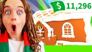 WHO BUILDS BEST GINGERBREAD HOUSE WINS *Mystery Box* AdoptMe Gaming w/ The Norris Nuts