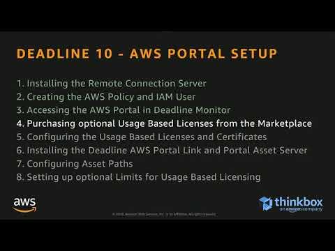 An Introduction to Deadline10 AWS Portal Setup