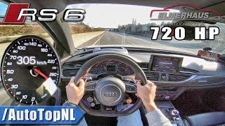 720HP Audi RS6 Elmerhaus 305km/h AUTOBAHN POV by AutoTopNL