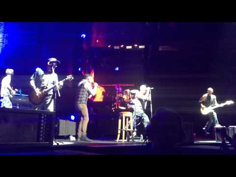 Linkin Park Live with Rise Against- Bleed it Out- The Hunting Party Tour Chesters Broken foot in IN