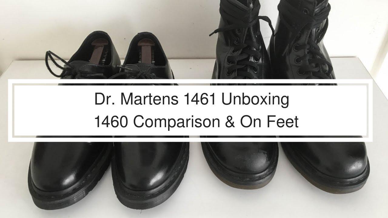 Dr Martens 1461 Mono Black Unboxing | 1460 Comparison | On Feet