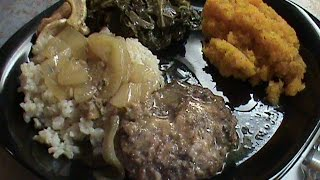 Hamburger Steak With Brown Rice