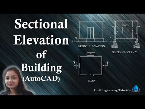 How to draw Sectional Elevation of a Building (AutoCAD)