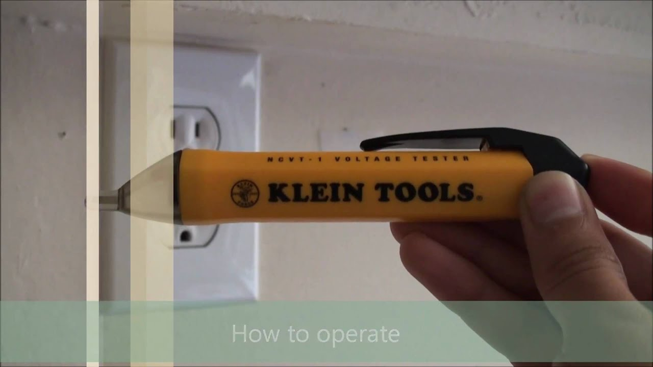Klein Tools Ncvt 1 Non Contact Voltage Tester Youtube Led Light Pocket Detector