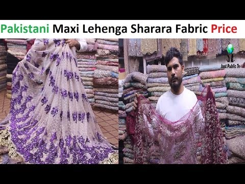 Pakistani Net Fabric For Sharara Maxi Lehenga Saree With Price || Saeed Cloth Home || Qurtaba Market