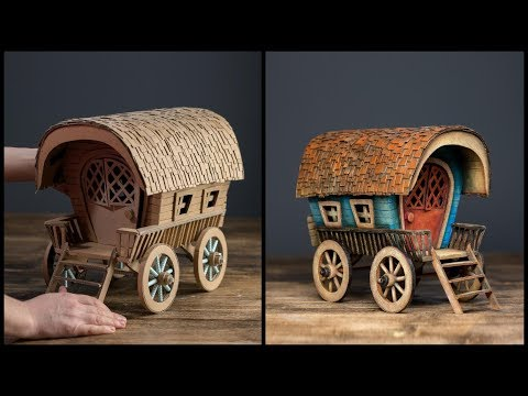 ❣DIY Vardo Wagon Using Cardboard❣