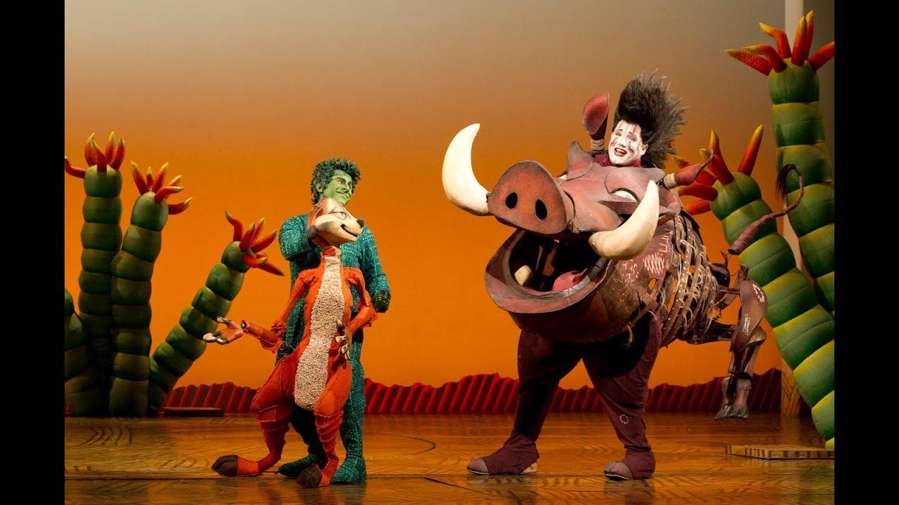 The Lion King Broadway Cast Hakuna Matata With Lyrics Youtube