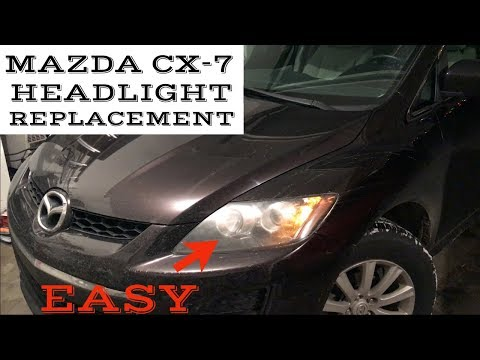 Mazda CX-7 Headlight Replacement - Easy Guide For Replacing Your Blown Bulb