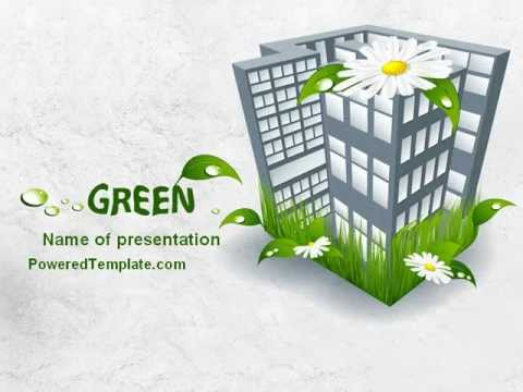 green building powerpoint template by poweredtemplate com youtube