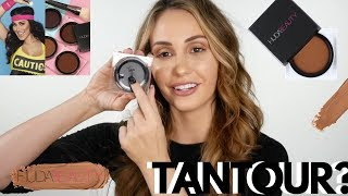 HUDA BEAUTY | TANTOUR HONEST REVIEW | FIRST IMPRESSION & SWATCHES !!!!