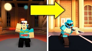 MUSEUM BAG GLITCH IN JAILBREAK! *USE GUNS* (Roblox)