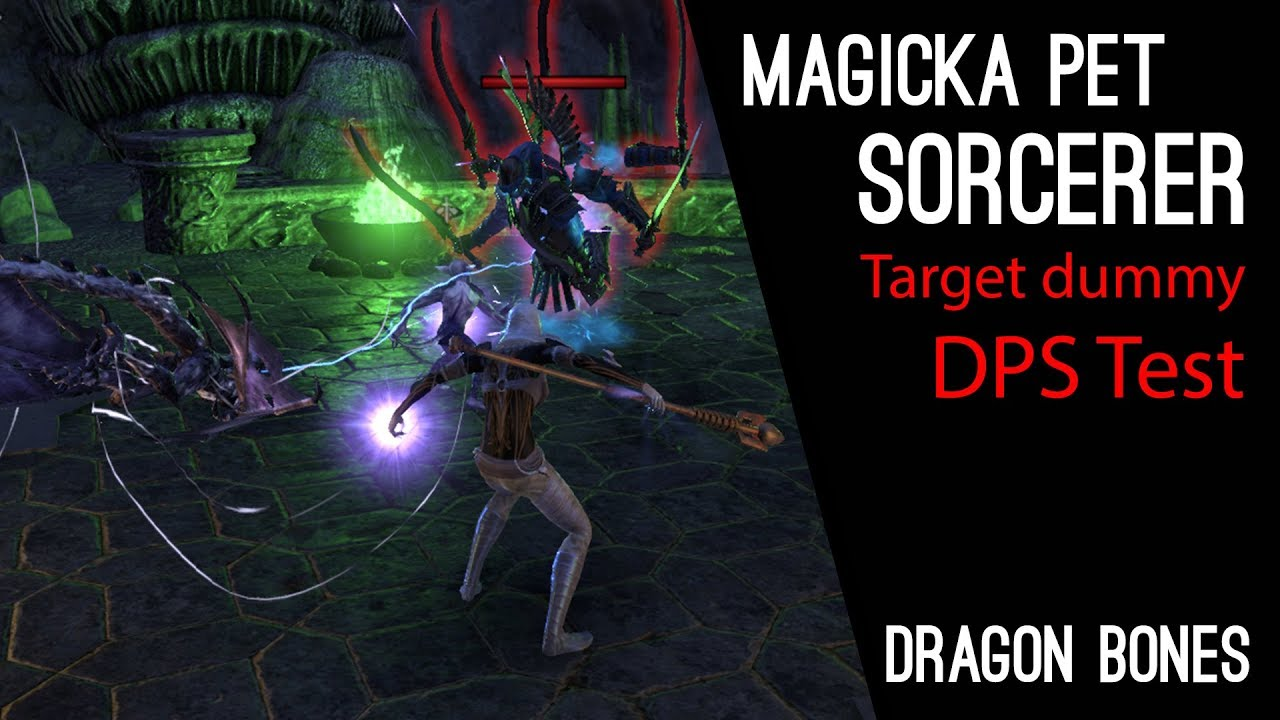 Magicka Pet Sorcerer 6m Dummy DPS Test & analyze Parse - Dragon Bones