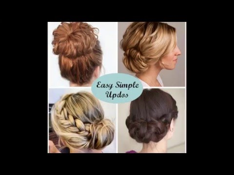 40 Simple Hair Updos | Easy Formal Hairstyles
