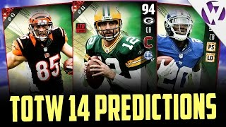 LIMITED EDITION AARON RODGERS?!?!?! - MADDEN 17 TOTW 14 PREDICTIONS