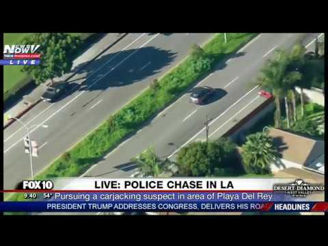 POLICE CHASE: Slow-Speed