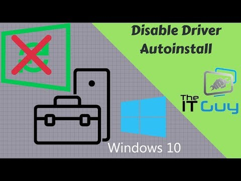 Disable Automatic Driver Installation on Windows 10