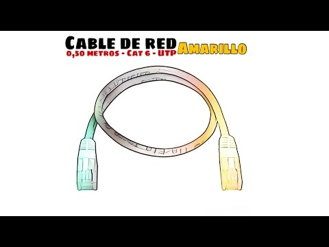 Video de Cable de red UTP CAT6 0.50 M Amarillo