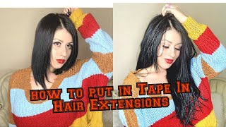 DIY How to install Tape In Hair Extensions: Unboxing, and application