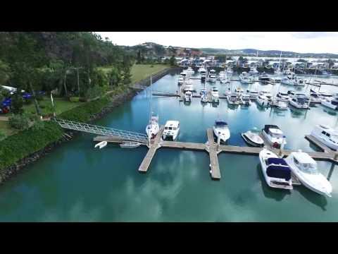 Keppel Bay Marina from the air 2016